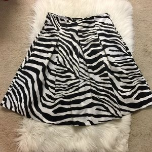 NWOT Express Design Studio Zebra Print Skirt
